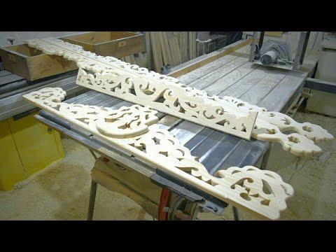 Изготовление деревянных наличников для окна с прорезной резьбой своими руками. #резьбаподереву