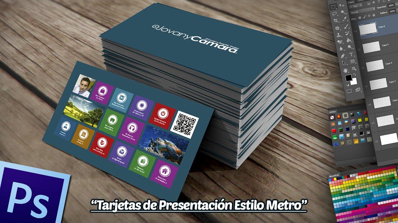 Tarjetas de Presentación Estilo Metro en Photoshop. - YouTube