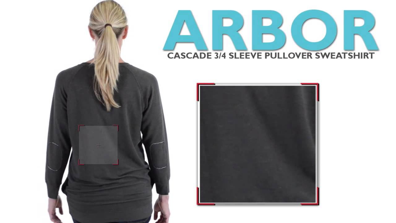 49c86440f4b2 Arbor Cascade Sweatshirt - 3 4 Sleeve (For Women) - YouTube