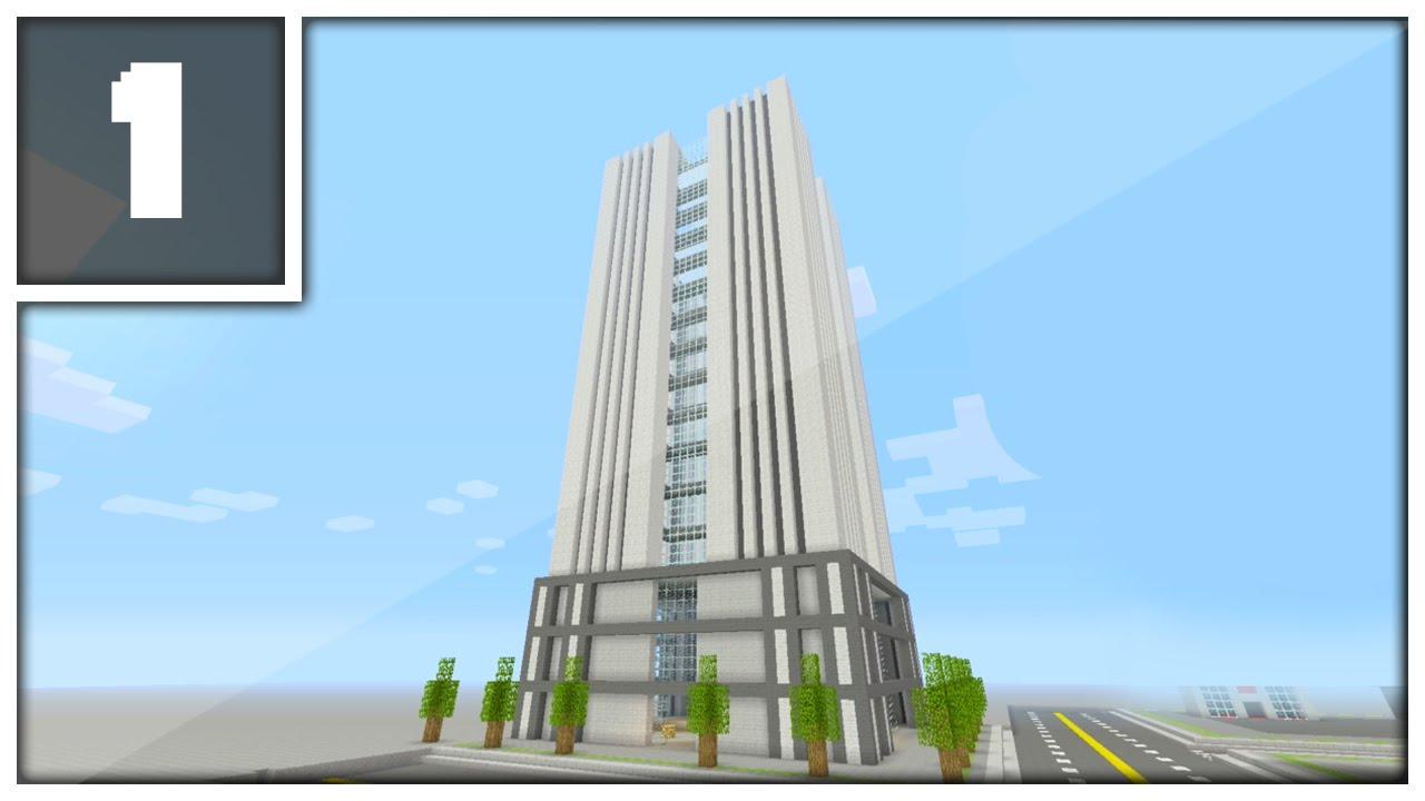 Minecraft Modern Office Building Tutorial XboxPlaystationPE - Modern office building