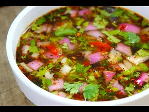 Pachi pulusu  Andhra style- Raw rasam with tamarind