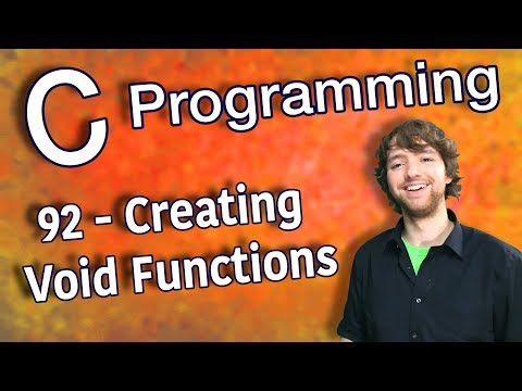 C Programming Tutorial 92 - Creating Void Functions thumbnail