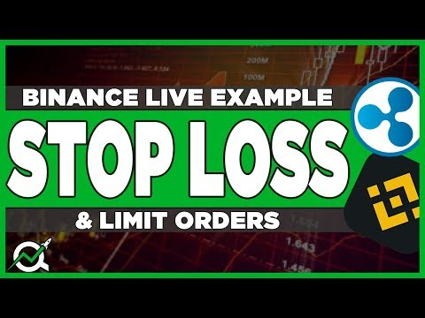 How To Set A Stop Loss On Binance - Proper Way To Use Stop Limit Order (Live Ripple Example)
