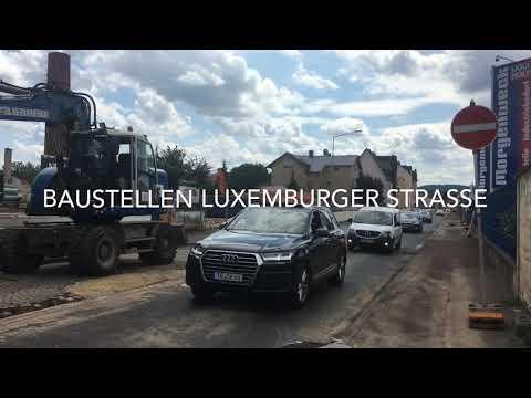 Baustellen Luxemburger Straße
