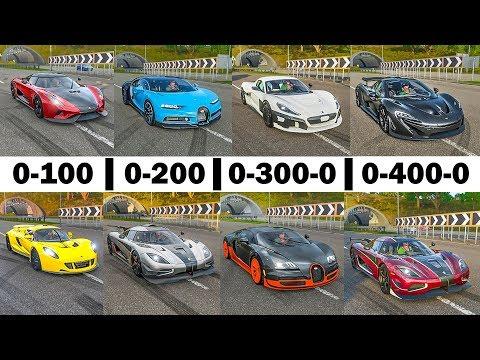 FH4 Acceleration Battle! – Chiron, Veyron, Rimac C2, One:1, Regera, Agera RS, Venom GT & P1!
