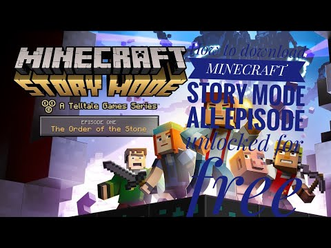 How To Download Mincraft Story Mode For Free 2019 All Episode Unlocked 40 Subscriber Special