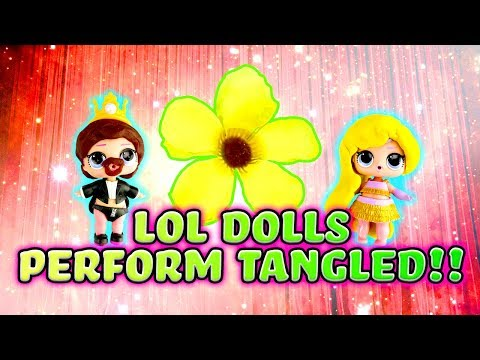 LOL Surprise Dolls Perform Tangled! W/ Unicorn, The Great Baby & Scribbles