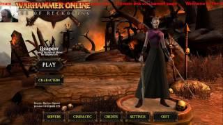 Return of Reckoning: Dark Elf starter zone: Twitch live-stream.