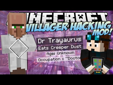Minecraft | VILLAGER HACKING MOD! (Watch Dogs Villager Secrets!) | Mod Showcase