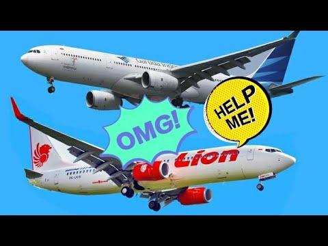 Pesawat Garuda VS Lion Air - YouTube