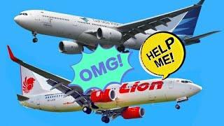 Pesawat Garuda VS Lion Air