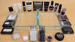 Salt vs Pepper - Mixing Makeup Eyeshadow Into Slime Special Series 176 Satisfying Slime Video