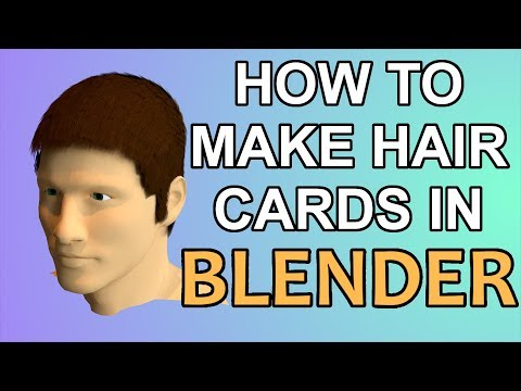 How To Make Hair Using the 'Card Method' In Blender