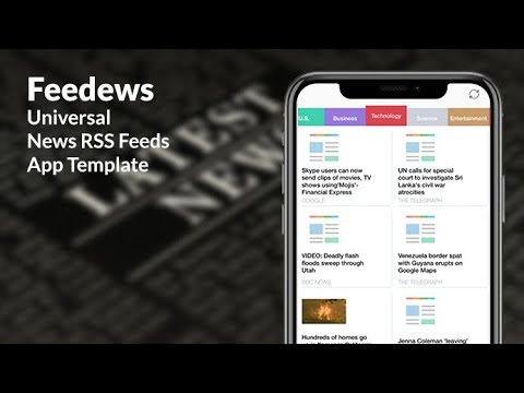 Feedews | Universal News RSS Feeds iOS and Android App Template