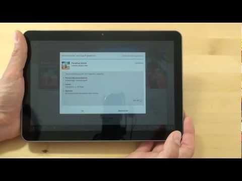 Samsung P7100 Galaxy Tab 10.1v Quickstart