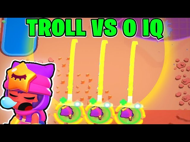 NEW BRAWLER SANDY! :: TROLL vs 0 IQ