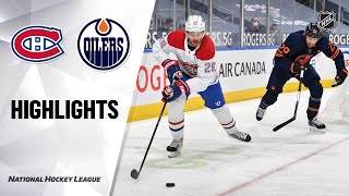 Canadiens @ Oilers 4/21/21 | NHL Highlights