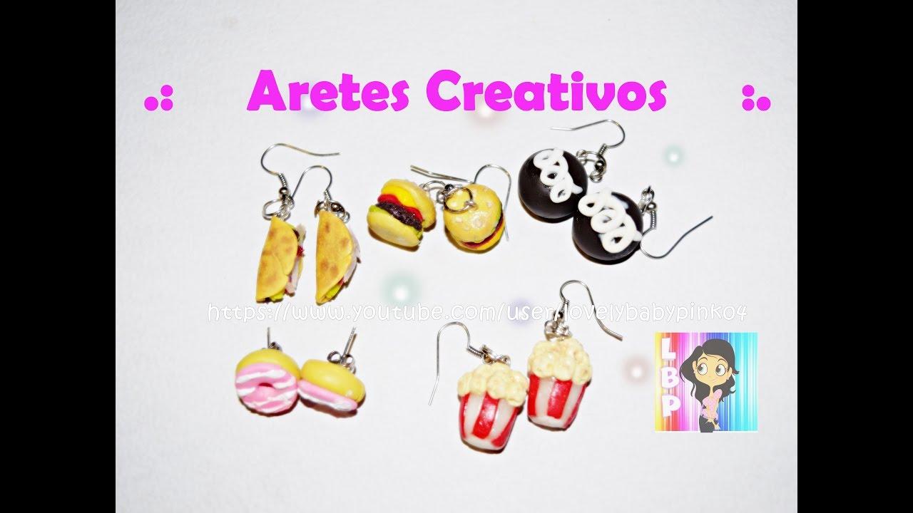 Boutique en ligne a17c5 7da53 Hazlo tu misma Aretes creativos super fáciles / Creaciones en porcelana  fría Tutoriales