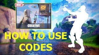 "How to ""USE"" Fortnite CREATIVE CODES! (Tutorial)"