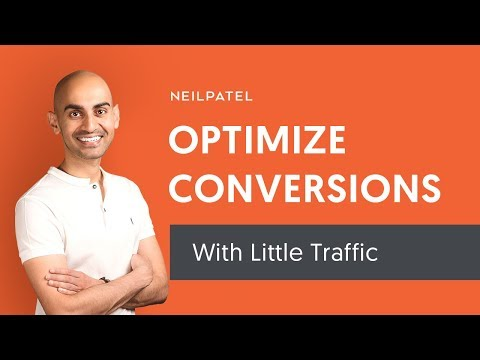 How to Improve Your Conversion Rate When You Have Little to No Website Visitors