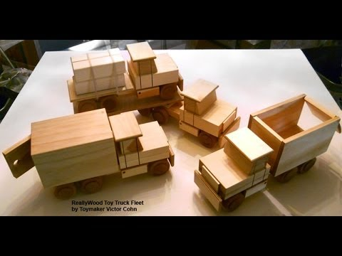 Wood Toy Plans Table Saw Four Easy To Make Trucks Youtube
