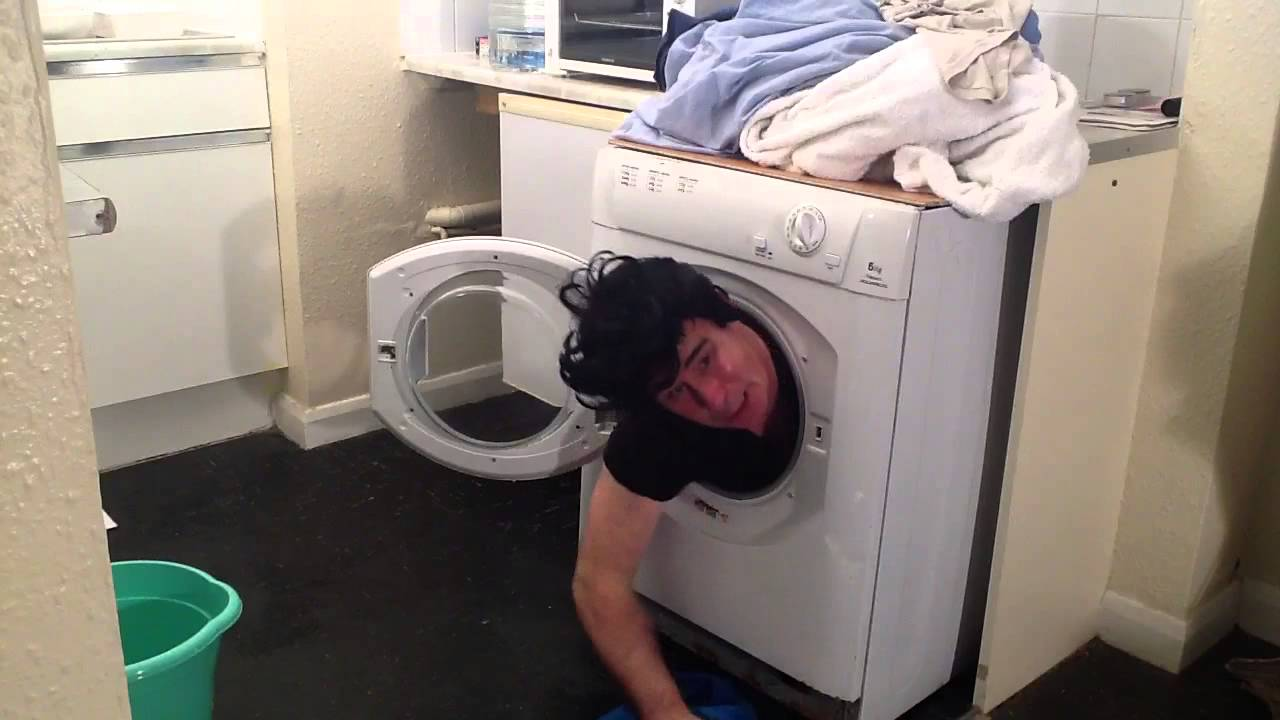 sock stuck in washing machine