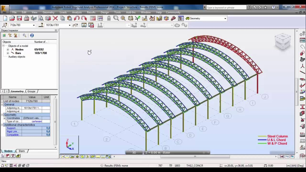 Robot Structural Analysis Design Of Space Truss Triangular