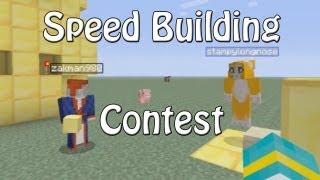 Minecraft Xbox - Speed Building Contest - W/ Stampylongnose - Part 1