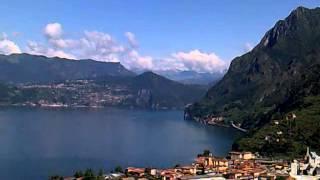 Panorama lago d' Iseo , da santuario San Pietro Marone