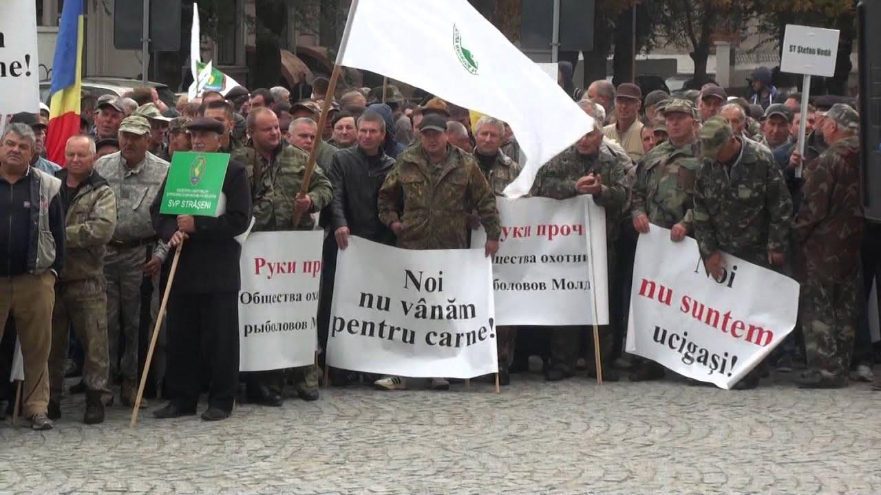 Proteste simultan la Ministerul Mediului. Unii sunt PRO, alții CONTRA vânătorii