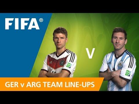 Germany V. Argentina - Team Line-ups EXCLUSIVE