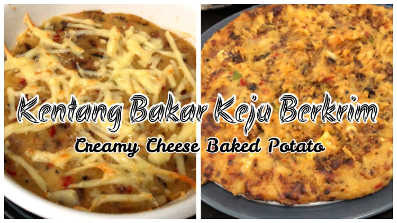 Creamy Cheese Baked Potato Kentang Bakar Keju Berkrim