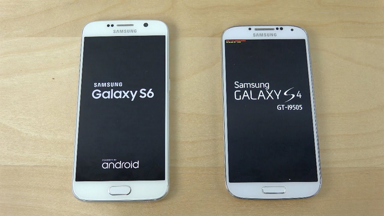 samsung galaxy s6 vs samsung galaxy s4 which is faster youtube. Black Bedroom Furniture Sets. Home Design Ideas