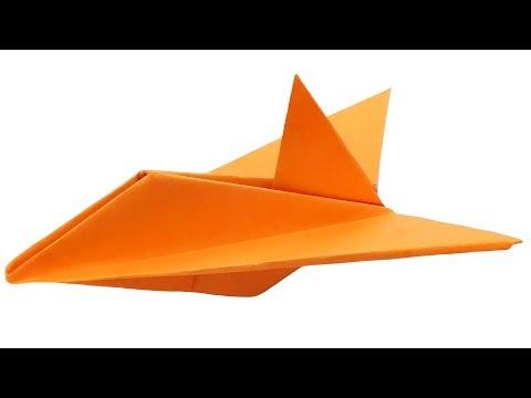 Вопрос: Как сделать пикирующий бумажный самолетик?