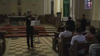 Bach. Sonata for violin and organ BWV 1016. Adagio ma non tanto - Sankt-Joseph-Kapelle