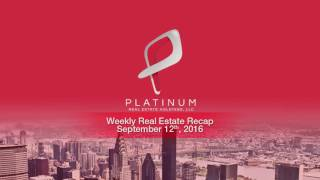 Weekly Real Estate Investment News - Week of September 12 2016