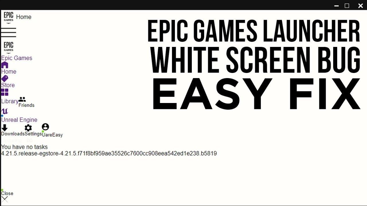 Epic Games Launcher Black Box