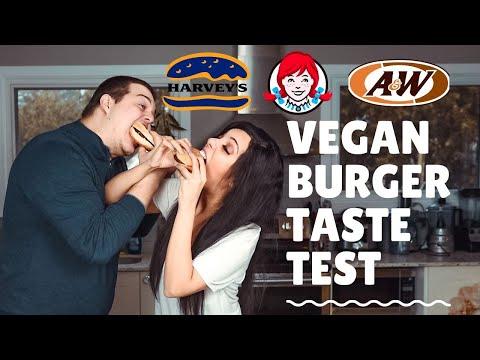 Vegan Fast Food Canada - Vegan Burger Taste Test | Wendys | A&W | Harveys | Wendy's Plantiful Burger
