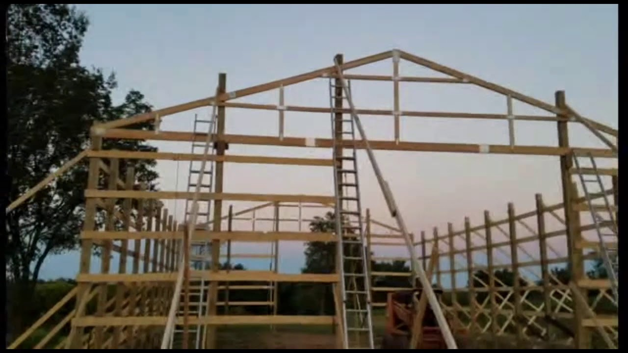 Menards 40x60 post frame building - YouTube