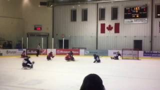 Team Canada Women's Sledge Hockey vs Winnipeg Jets Sledge Hockey