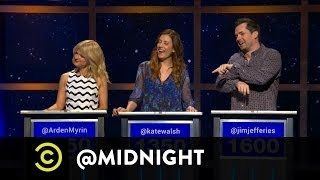 Arden Myrin, Kate Walsh, Jim Jefferies - Live Challenge - Putin Out - @midnight