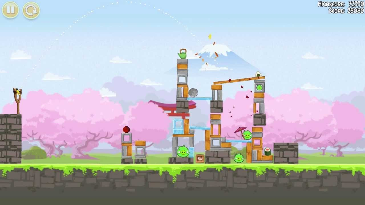 Angry birds seasons cherry blossom gameplay youtube voltagebd Gallery