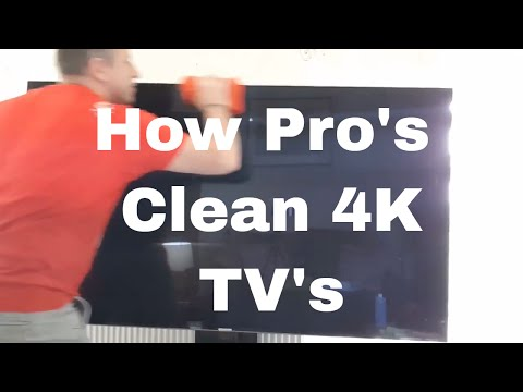 How Pro's Clean 4K TV Screens