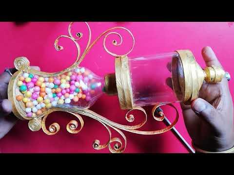 Plastic bottle craft idea   best out of waste   plastic bottle reuse idea Showpiece