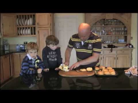 How to cook Ham hock's & Goats cheese scones  Cooking With Treyvaud