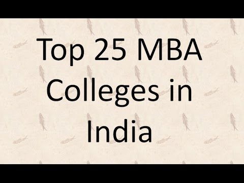 Top 25 MBA Colleges in India