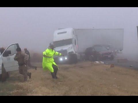 Big Rig - VIDEO: Big Rig PLOWS Through Foggy Texas Crash Scene!