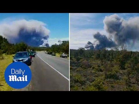 Huge Explosion at Hawaiian Volcano Causes Gigantic Ash Cloud