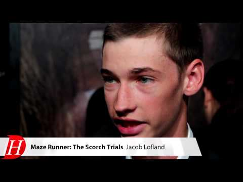 Jacob Lofland at The MAZE RUNNER: THE SCORCH TRIALS Premiere