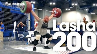 Lasha Talakhadze Full Session 200kg Snatches 2015 World Weightlifting Championships